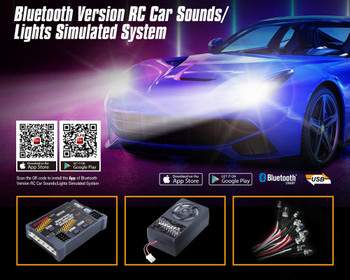 G.T Power Engine Sounds + LED Lights System For Cars + Trucks 58 Different Sounds -BLUETOOTH-