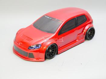 1/10 RC Car BODY Shell VW GTI TCR Wide Body