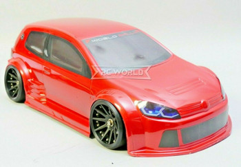 1/10 RC Car BODY Shell VW GTI TCR Wide Body 200mm *Unpainted* CLEAR