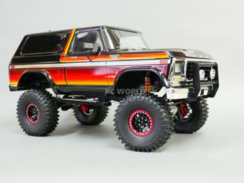 traxxas bronco beadlock wheels black/red