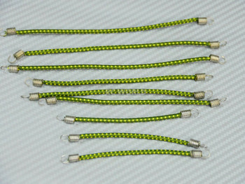 RC 1/10 Accessories BUNGEE CORDS 9PCS Set - GREEN-