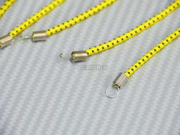 RC 1/10 Accessories BUNGEE CORDS 9PCS Set - YELLOW-