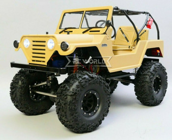RC 1/10 Jeep Warrior Rock Crawler 2.2 RTR 325mm w/ LED Lights Waterproof