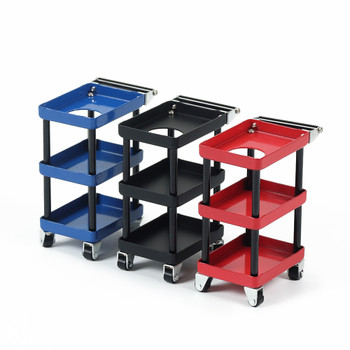 1/10 Scale Parts RACK Tool Maintenance CART W/ Wheels METAL -BLACK-
