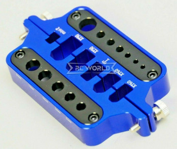 Welding Solder STAND Multi Function Tool Battery Terminal, Plugs, Wires -BLUE-