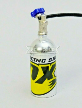 1/10 Scale Metal NITROUS NOS Bottle FOX Racing w/ Line YELLOW