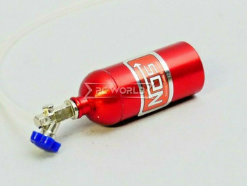 RC 1/10 Scale Accessories METAL NITROUS NOS Bottle w/ Line - RED -