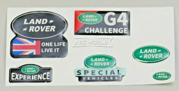 1/10 LAND ROVER G4 Challenge Experience Decal Badges Logo Stickers 3D (6PCS)