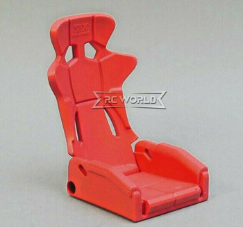 1/10 Scale Racing Seat Bucket High Back Recline 1 Seat - RED -