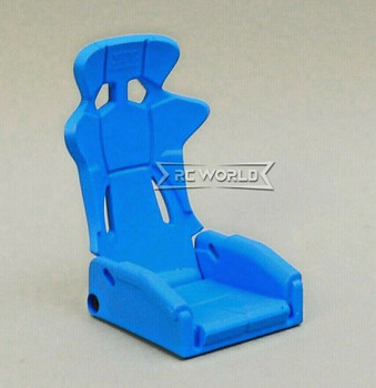 1/10 Scale Racing Seat Bucket High Back Recline 1 Seat - BLUE -