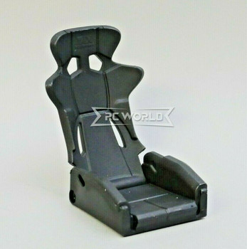 1/10 Scale Racing Seat Bucket High Back Recline 1 Seat - BLACK -