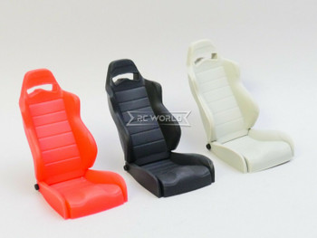 1/10 Scale Sport Seat Racing Bucket Recline 1 Seat - SILVER -