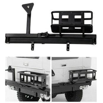 RC Truck METAL REAR BUMPER Tire Carrier W/ Fuel Holder For SCX10 Gelande D90