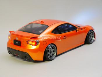 1/10 RC Body Shell Toyota 86 BRZ  w/ Light Buckets ORANGE -Finished-