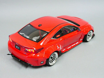 1/10 RC Car Body Shell LEXUS RCF W/ Wide Body Kit -CLEAR-