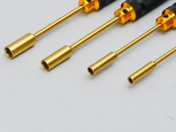 Socket Head Driver TOOL Set Titanium 4 PIECES 4.0 - 5.5 - 7.0 - 8.0 mm - BLACK