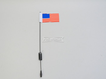 "1/10 METAL ANTENNA 8"" W/ American Flag USA For RC Vehicles"