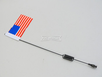 "1/10 METAL ANTENNA 10"" W/ American Flag USA For RC Vehicles"