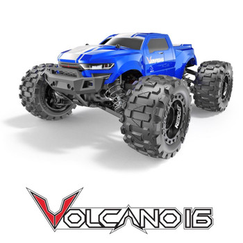 RC 1/16 Volcano Mini Monster Truck 4WD 2.4ghz -RTR- Blue