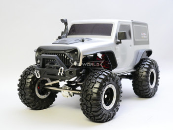 RC 1/10 Jeep Wrangler 2 Door Rock Crawler 4x4 RTR 285mm w/ LED Lights SILVER