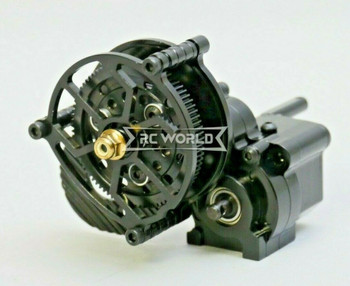 For AXIAL WRAITH Poison Spyder All Metal GEARBOX Transmission W/ Pinion BLACK