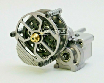 For AXIAL WRAITH Poison Spyder All Metal GEARBOX Transmission W/ Pinion Gun Metal