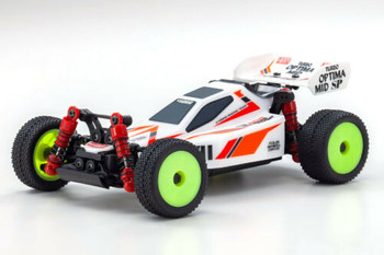 Kyosho RC Mini Z BUGGY Optima Mid Turbo 4WD -RTR- WHITE 32092W