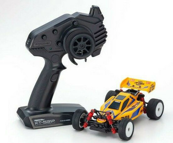 Kyosho RC Mini Z BUGGY Optima Mid Turbo 4WD -RTR- YELLOW 32092Y