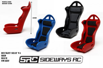 RC 1/10 Scale Bucket Seat V4 Black