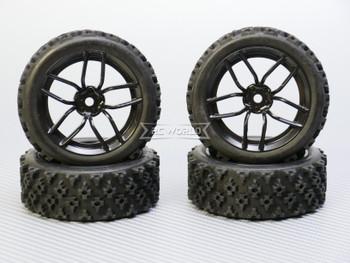 RC Car 1/10 Rally WRC Wheels Tires  Package BLACK 3MM *4 pcs*