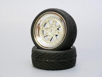 1/10 STREET Wheels Vintage 3MM Offset SILVER Work Star W/ Chrome LIP *4pcs*