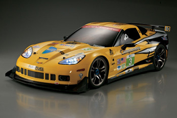 1/7 Traxxas XO-1 RC BODY Shell CHEVY CORVETTE GT2 w/ LED LIGHTS Installed -PAINTED-