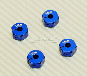 1/10 Anodized Aluminum 7MM WHEEL Spacer 12MM HUB -4 pcs- BLUE