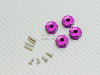 1/10  Anodized Aluminum 7MM WHEEL Spacer 12MM HUB -4 pcs- PURPLE