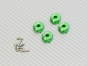 1/10  Anodized Aluminum 8MM WHEEL Spacer 12MM HUB -4 pcs- GREEN