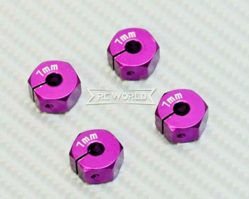 1/10  Anodized Aluminum 8MM WHEEL Spacer 12MM HUB -4 pcs- PURPLE