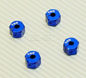 1/10  Anodized Aluminum 9MM WHEEL Spacer 12MM HUB -4 pcs- BLUE