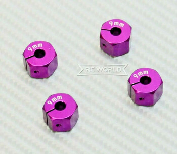 1/10 Anodized Aluminum 9MM WHEEL Spacer 12MM HUB -4 pcs- PURPLE