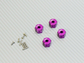 9MM WHEEL Spacer 12MM HUB -4 pcs- PURPLE