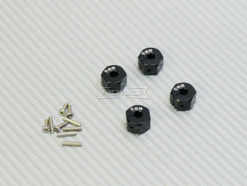 9MM WHEEL Spacer 12MM HUB -4 pcs- BLACK