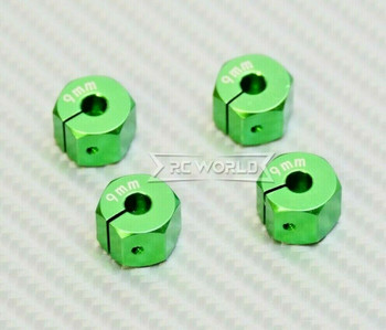 1/10 Anodized Aluminum 9MM WHEEL Spacer 12MM HUB -4 pcs- GREEN
