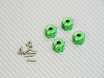10MM WHEEL Spacer 12MM HUB -4 pcs- GREEN