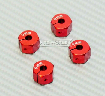 1/10 Anodized Aluminum 10MM WHEEL Spacer 12MM HUB -4 pcs- RED