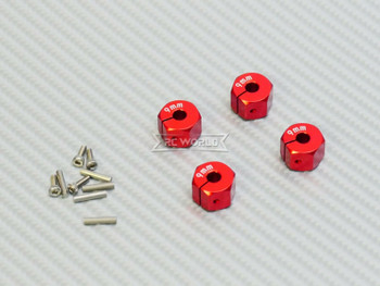 10MM WHEEL Spacer 12MM HUB -4 pcs- RED
