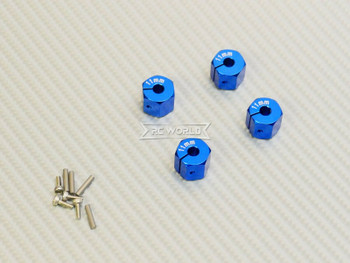 11MM WHEEL Spacer 12MM HUB -4 pcs- BLUE
