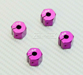 1/10  Anodized Aluminum 11MM WHEEL Spacer 12MM HUB -4 pcs- PURPLE