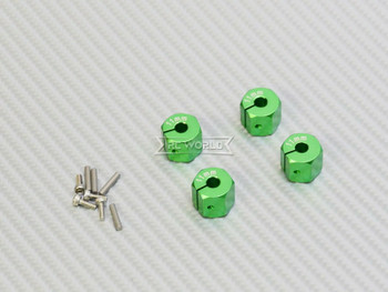 11MM WHEEL Spacer 12MM HUB -4 pcs- GREEN