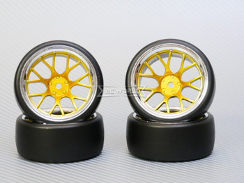 1/10 DRIFT Wheels 9MM Offset GOLD Web W/ Chrome LIP *4pcs*