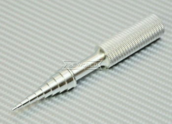 RC Bearing Removal Tool removes bearings for 1/10 and 1/8 vehicles SILVER