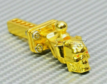 RC 1/10 Scale Accessories All Metal TOW HITCH Ball Mount SKULL Gold